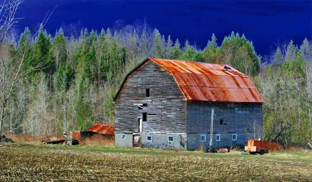 Flanders road barn